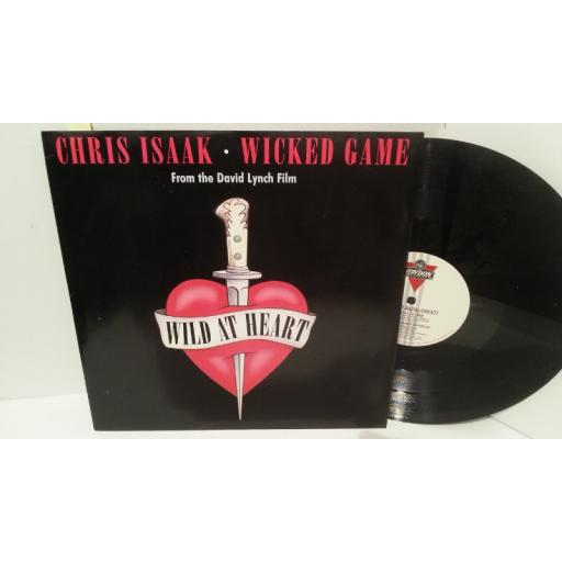 "CHRIS ISAAK, ANGELO BADALAMENTI wicked game, 12"" single, LONX 279"