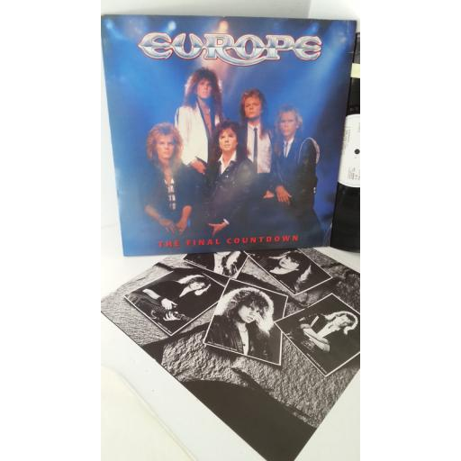 EUROPE the final countdown, EPC 26808, lyric insert