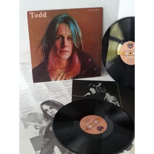 TODD RUNDGREN todd, 2 x lp, lyric poster, K85501