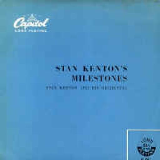 "KENTON, STAN and his orchestra, milestones, 10"" LP, LC 6517"