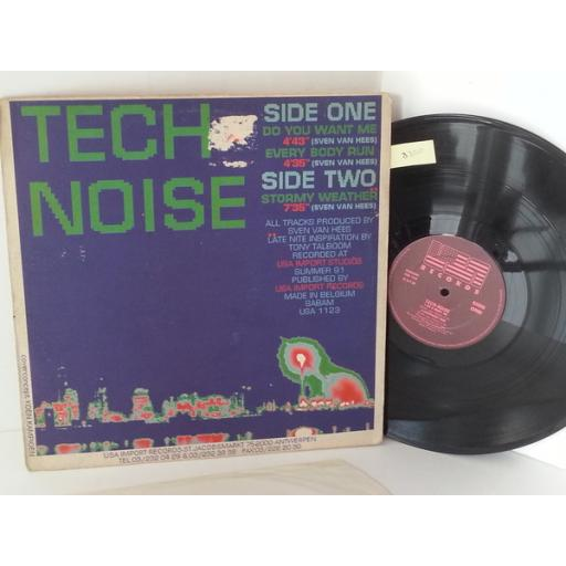 TECH NOISE do you want me, 12 inch single, 3 tracks, USA 1123