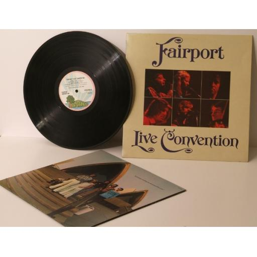 FAIRPORT, Live convention. PINK RIM. Top copy. Very rare. First UK pressing 1...