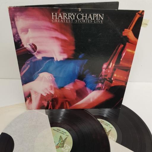 "HARRY CHAPIN, greatest stories - live, 8E-6003, 2x12"" LP"
