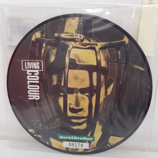 """LIVING COLOUR, auslander 7"""" remix, B side auslander album version, 659173 7, PICTURE DISC, 7"""" single"""