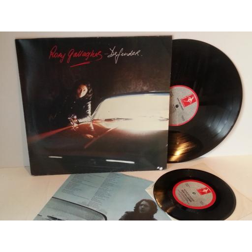 SOLD: Rory Gallagher DEFENDER, with limited edition live single. XFIEND 98, bonus 7 inch single