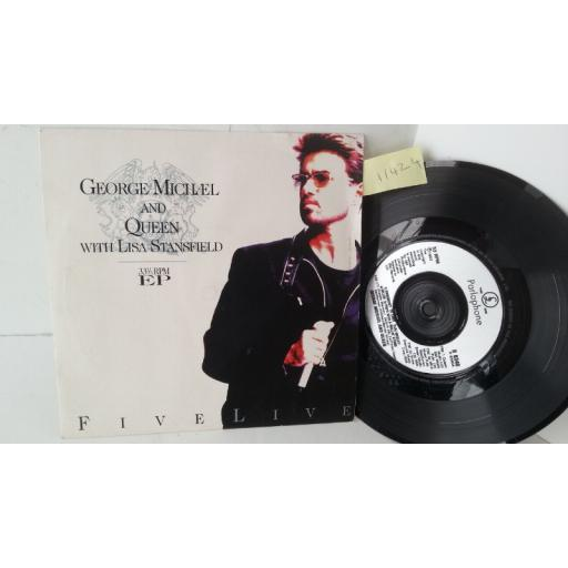 GEORGE MICHAEL AND QUEEN WITH LISA STANSFIELD five live, 7 inch single, R 6340