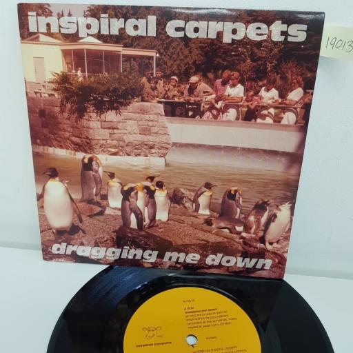 "INSPIRAL CARPETS, dragging me down, B side I know I'm losing you, dung 16, 7"" single"