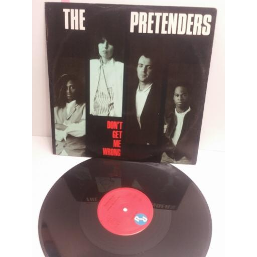 "THE PRETENDERS don't get me wrong YZ85T 12"" PICTURE SLEEVE SINGLE"