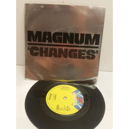 MAGNUM changes, lonesome star. 7 inch picture sleeve. JET155