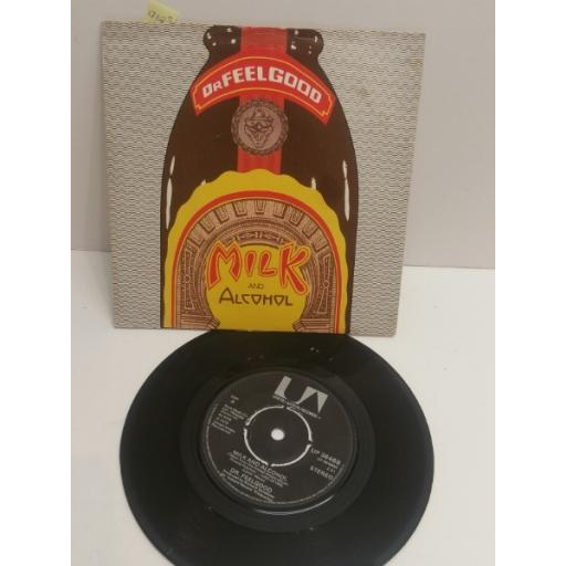 """Dr FEELGOOD mIlk and alcohol 7"""" picture sleeve SINGLE UAG30184"""