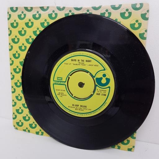 """BE-BOP DELUXE, ships in the night, B side crying to the sky, HAR 5104, 7"""" single"""
