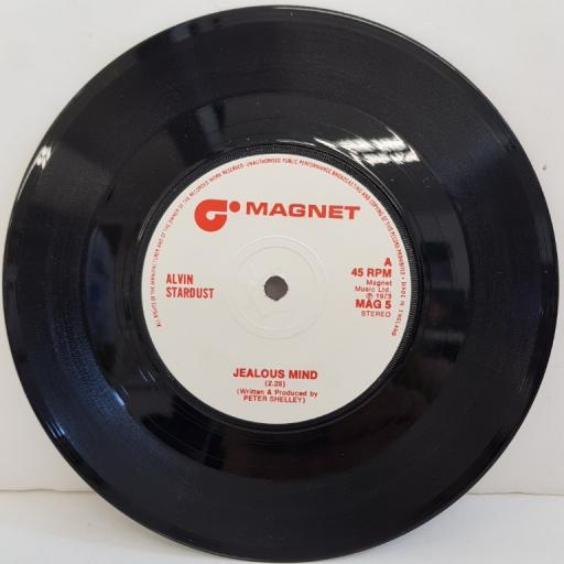 "ALVIN STARDUST, jealous mind, B side guitar star, MAG 5, 7"" single"