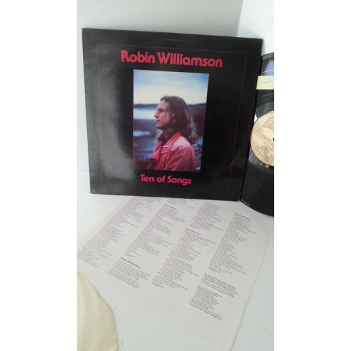 ROBIN WILLIAMSON ten of songs, lyric insert, PLR 081