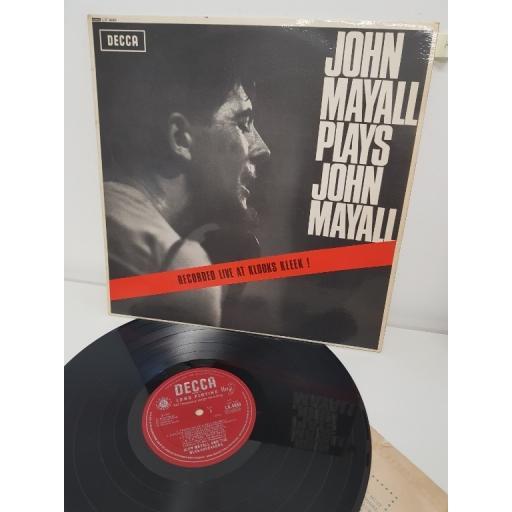 """JOHN MAYALL, john mayall plays john mayall, LK 4680, 12"""" LP, MONO"""