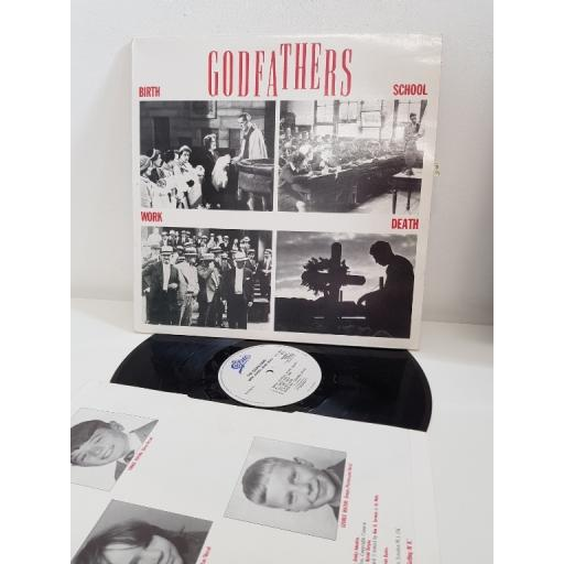 "THE GODFATHERS, birth school work death, 460583, 12"" LP"