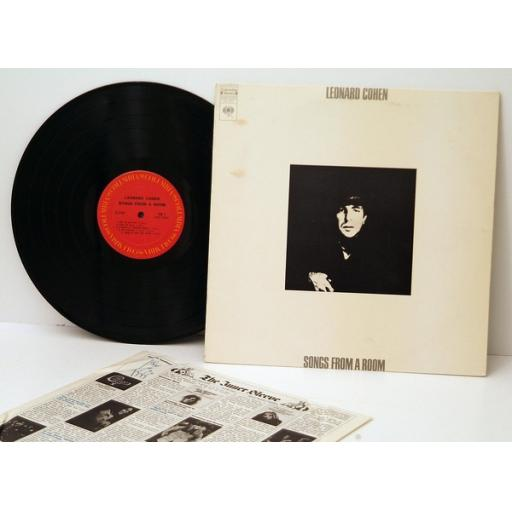 LEONARD COHEN, Songs from a room. Top copy