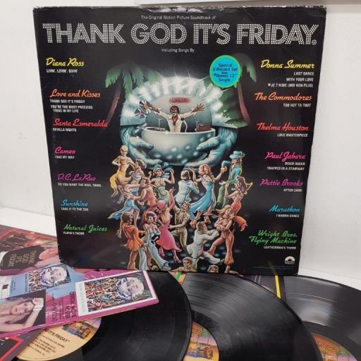 THANK GOD IT'S FRIDAY THE ORIGINAL MOTION PICTURE SOUNDTRACK , NBLP 7099, 2x12 inch LP + 12 inch single sided