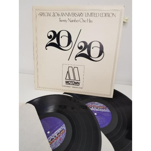 "20/20 TWENTY NO. 1 HITS FROM TWENTY YEARS AT MOTOWN, M 937/2, 2x12"" LP"