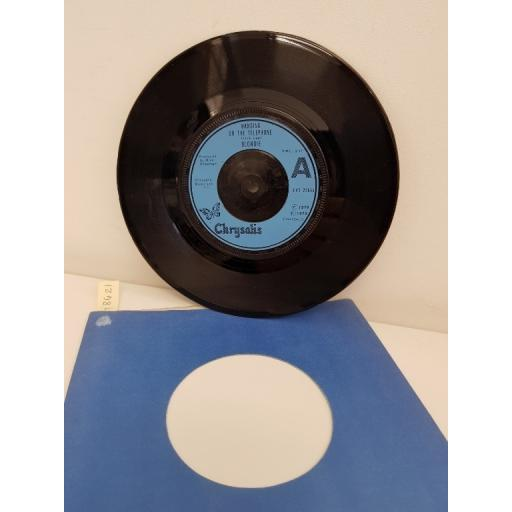 BLONDIE, hanging on the telephone, side b will anything happen CHS 2266 7'' single