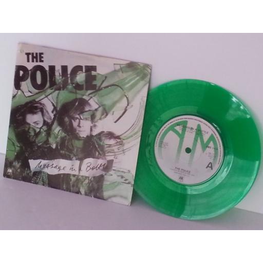 POLICE message in a bottle, 7 inch green vinyl