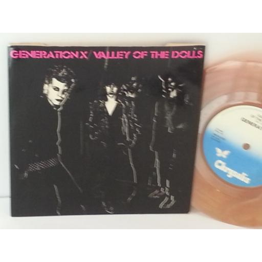 GENERATION X valley of the dolls, 7 inch single, CHS 2310, orange marbled vinyl