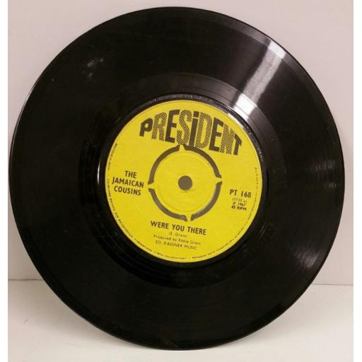 THE JAMAICAN COUSINS just a little love 7 inch single, PT 168