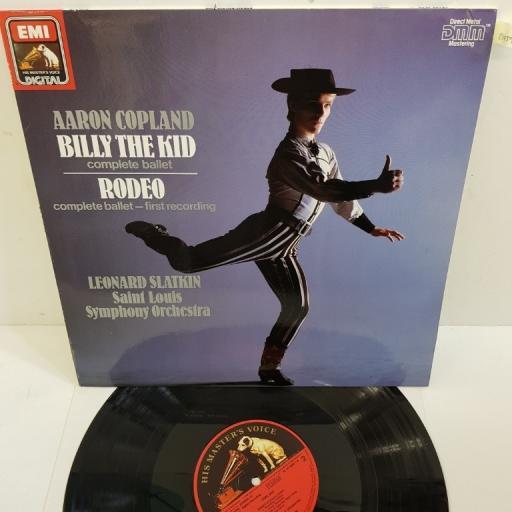 "Aaron Copland, Leonard Slatkin, Saint Louis Symphony Orchestra – Billy The Kid; Rodeo, EL 27 0398 1, 12"" LP"