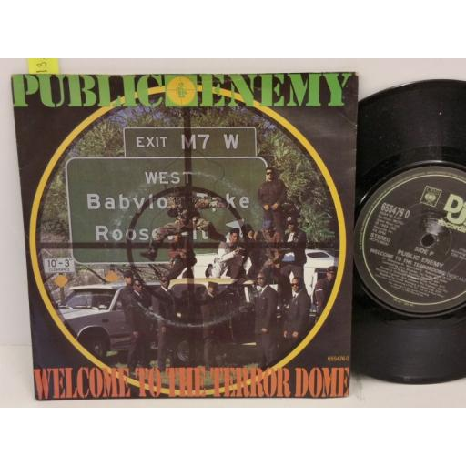 PUBLIC ENEMY welcome to the terrordome, PICTURE SLEEVE, 7 inch single, 6554760