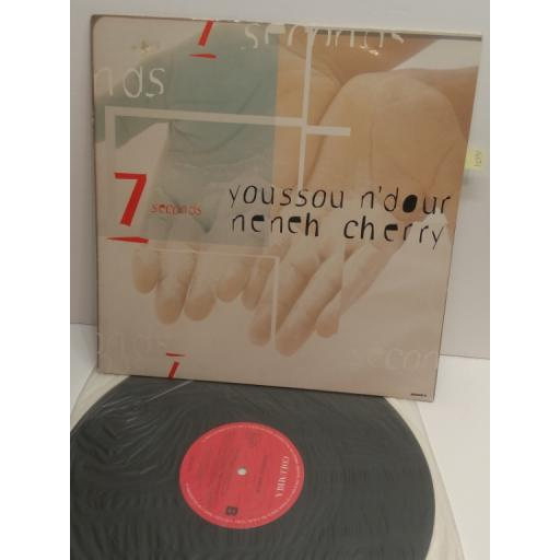 "YOUSOU N'DOUR NENEH CHERRY 7 seconds 4 TRACK 12"" SINGLE 660508"