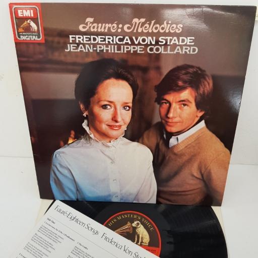 """Fauré - Frederica von Stade, Jean-Philippe Collard – Mélodies, ASD 4183, 12"""" LP"""