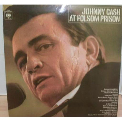 Johnny Cash AT FOLSOM PRISON. First UK stereo pressing, 1968