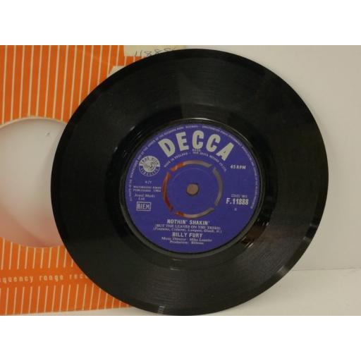 BILLY FURY nothin' shakin', 7 inch single, F. 11888