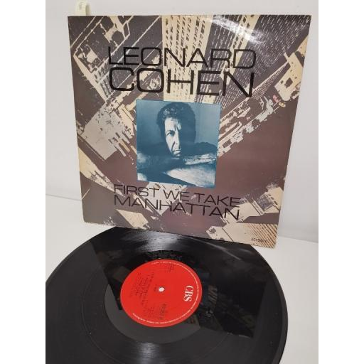 """LEONARD COHEN, first we take manhattan and sisters of mercy, B side bird on the wire and suzanne, 651352 6, 12"""" maxi-single"""