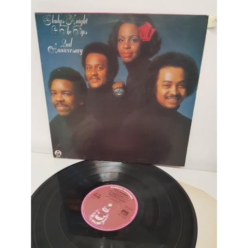 "GLADYS KNIGHT & THE PIPS, 2nd anniversary, BDLP 4038, 12"" LP"