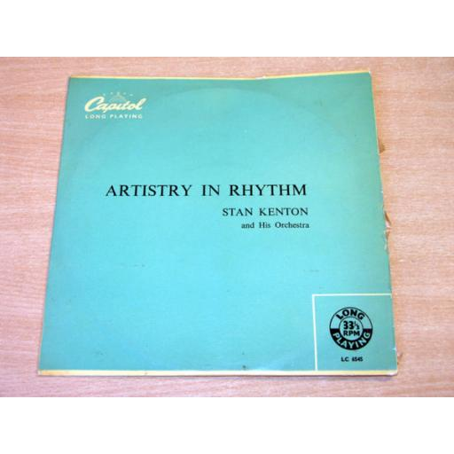 """KENTON, STAN and his orchestra, artistry in rhythm, 10"""" LP, LC 6545"""