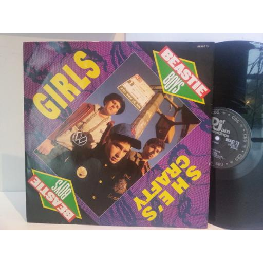 Beastie Boys GIRLS & SHE'S CRAFTY, 12 inch vinyl B