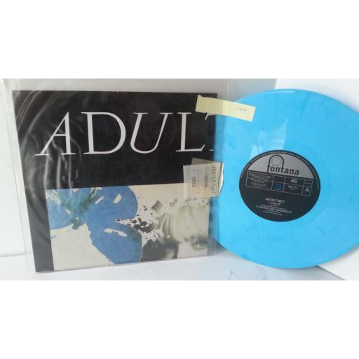 ADULT NET take me, 10 inch single, blue vinyl, limited edition, BRX 110, poster
