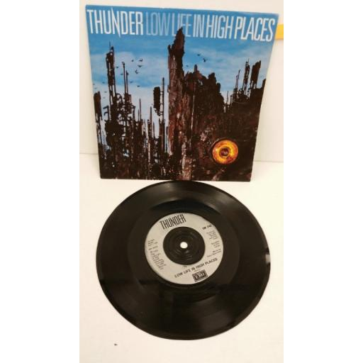 THUNDER low life in high places, 7 inch single, EM 242