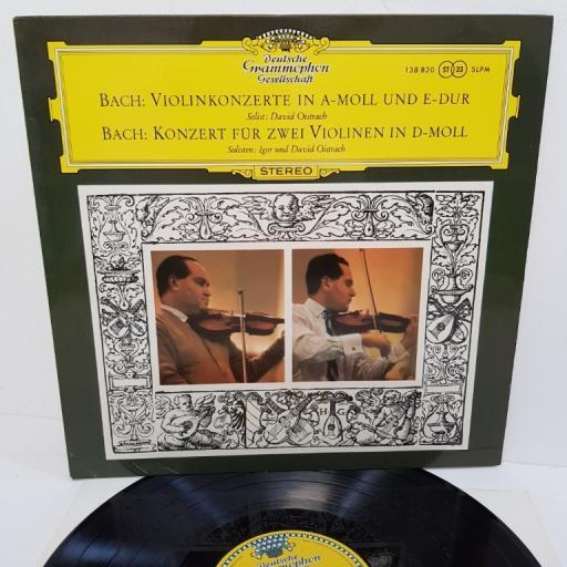 """Bach - David Oistrach und Igor Oistrach – Violinkonzert In A-moll Und E-Dur / Konzert Für Zwei Violinen In D-moll, 138 820, 12"""" LP"""