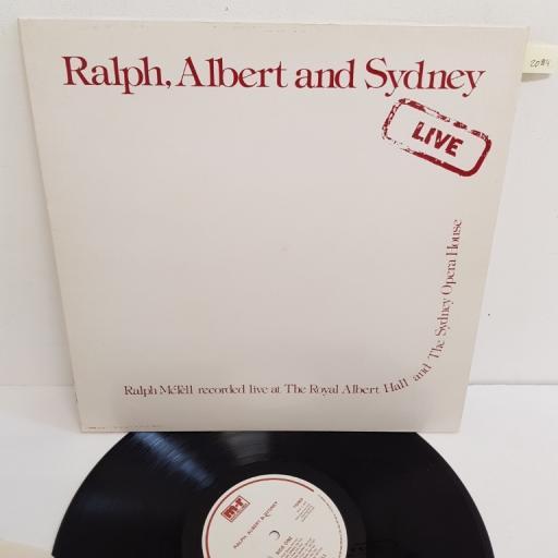 "RALPH McTELL, ralph, albert and sydney live , TG 003, 12"" LP"