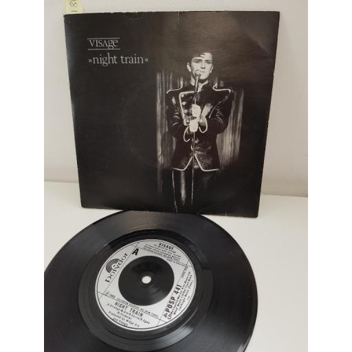 VISAGE, night train, side B i'm still searching, POSP 441, 7'' single