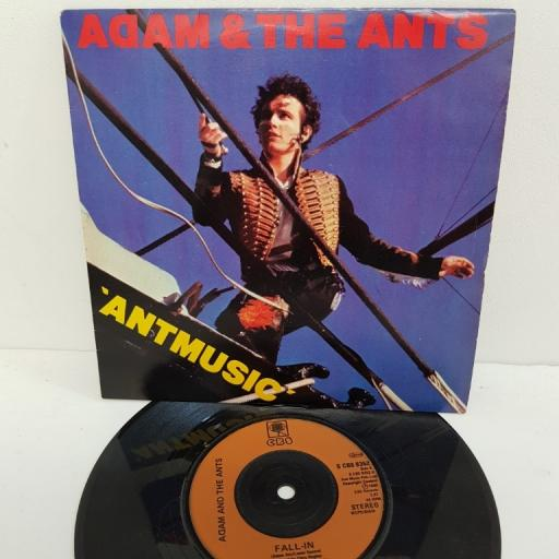 "ADAM & THE ANTS, antmusic, B side fall-in, S CBS 9352, 7"" single"
