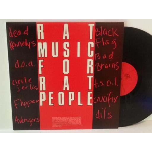 Various RAT MUSIC FOR RAT PEOPLE. Dead Kennedys, d.o.a, circle jerks, black flag etc