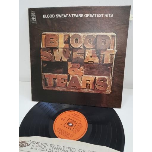 """BLOOD, SWEAT & TEARS, blood, sweat & tears greatest hits, S 64803, 12"""" LP"""