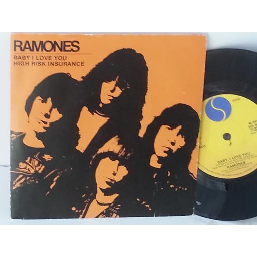 SOLD RAMONES baby i love you, 7 inch single. SIR 4031