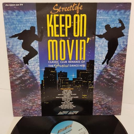 """STREETLIFE, keep on movin', SMR 988, 12"""" LP, compilation"""