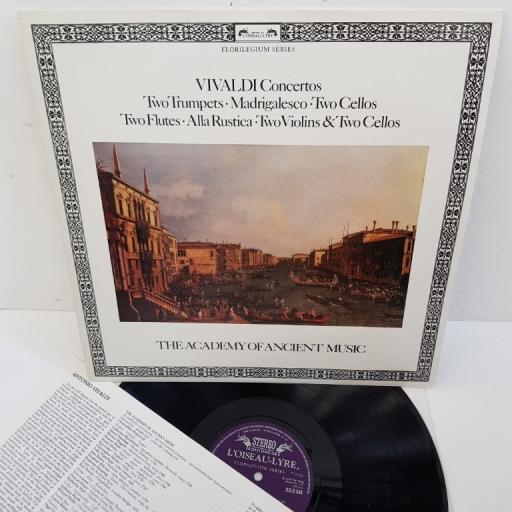 "Antonio Vivaldi, Christopher Hogwood, The Academy Of Ancient Music – Concertos: Two Trumpets, Madrigalesco, Two Cellos, Two Flutes, Alla Rustica, Two Violins & Two Cellos, DSLO 544, 12"" LP"
