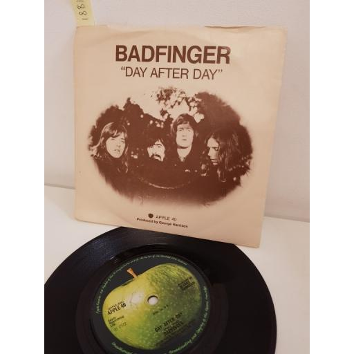 BADFINGER, day after day, side B sweet tuesday morning, APPLE 40, PICTURE SLEEVE, 7'' single