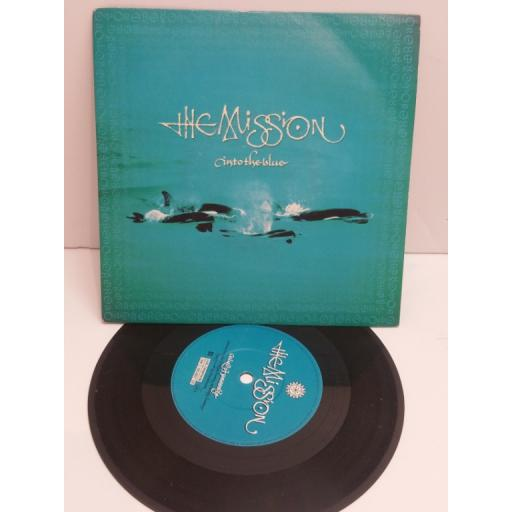 THE MISSION into the blue, bird of passage. 7 inch picture sleeve. MYTH 10