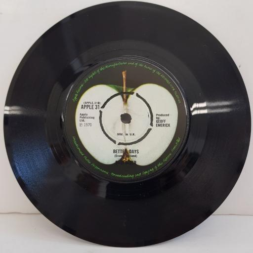"""BADFINGER, no matter what, B side better days, APPLE 31, 7"""" single"""